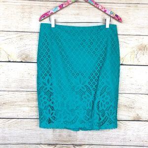 LOFT Skirts - LOFT Paradise Lace Pencil Skirt size 10 // I15